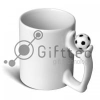 Кружка белая с мячом