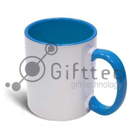 Кружка голубая внутри + ручка