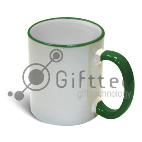 Кружка зеленая + ручка