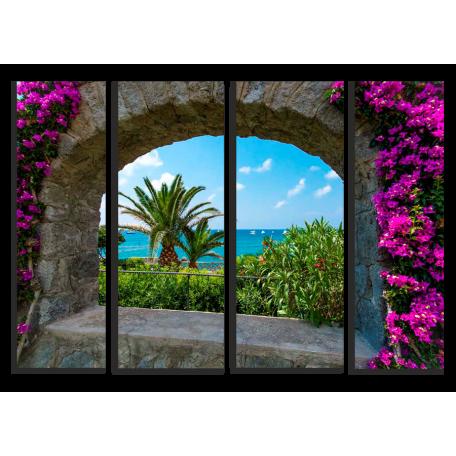 Вид на море. каменная арка