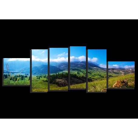Горный хребет, панорама