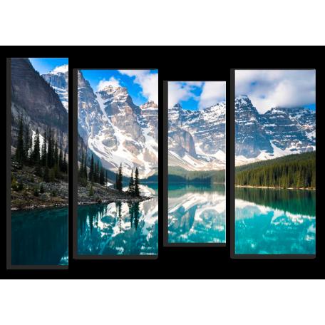 Голубое озеро в Канаде