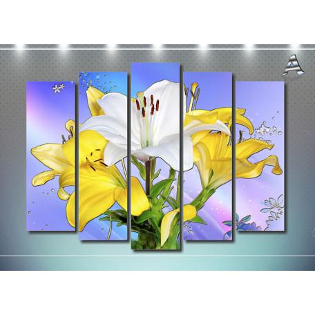 Желто-белые цветы